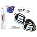 """Диалоговая автосигнализация """"Alfa A-5 Dialog"""" с двусторонней связью, 2-мя ЖК-брелоками. Без сирены"""