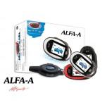 Автосигнализация «ALFA A-100»с двусторонней связью с 2-мя ЖК-брелками. Без сирены