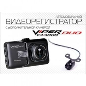 Автомобильный Видеорегистратор VIPER C3-9000 DUO (с доп. камерой + парковка)