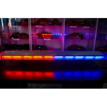 Спецсигнал LED E207 светодиодный на крышу авто (1180мм) синий+красный пульт управления, шт