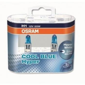 Лампа Osram H1 Cool Blue Hyper DuoBox 12v/55W (2шт)