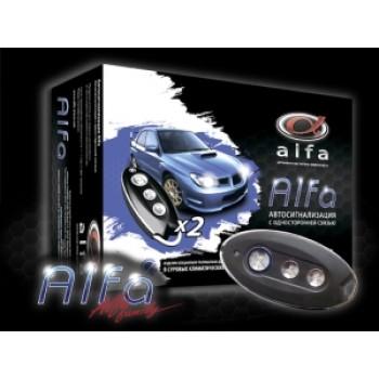 Автосигнализация «Alfa» с односторонней связью. Без сирены
